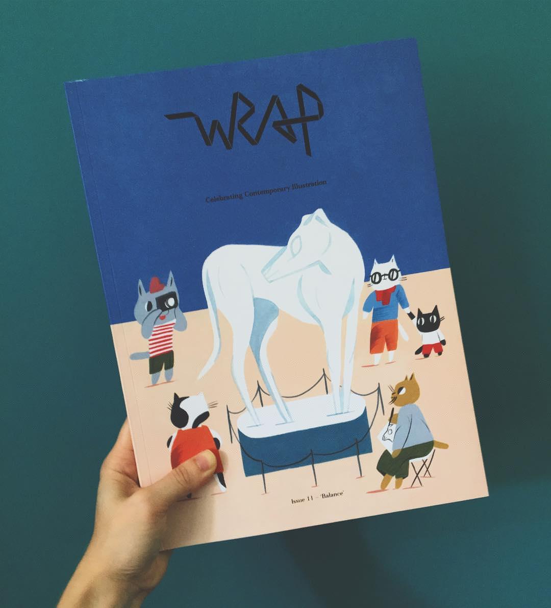 I'm happier now #wrapmagazine #illustration #balance #issue11